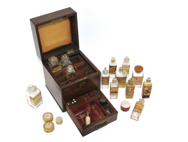FNM336865  Credit: Medicine chest owned and used by Florence Nightingale in the Crimea (mixed media) by  Florence Nightingale Museum, London, UK/ The Bridgeman Art Library Nationality / copyright status: out of copyright